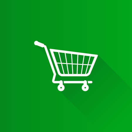 mobile phone icon: Shopping cart icon in Metro user interface color style. Buying ecommerce Illustration