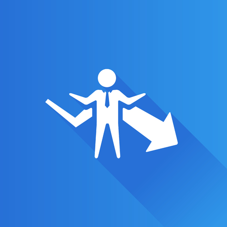 mobile phone icon: Businessman chart icon in Metro user interface color style. Business finance growth