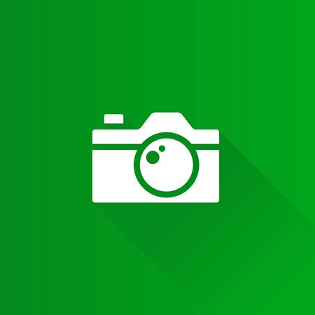 Camera icon in Metro user interface color style. Photography picture imaging