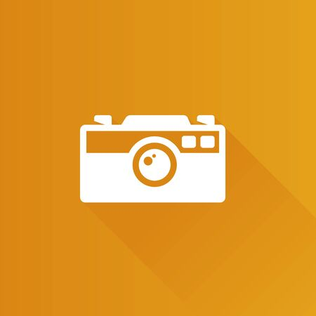 shutter: Range finder camera icon in Metro user interface color style. Digital photography film