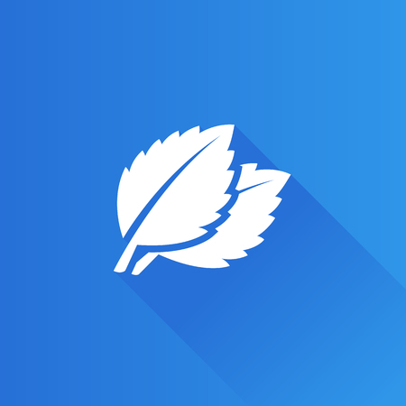 leaf: Basil leaves icon in Metro user interface color style. Food cooking ingredient