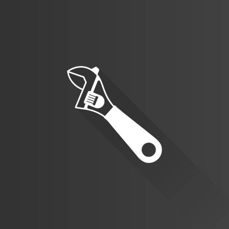metal industry: adjustable wrench icon in Metro user interface color style.