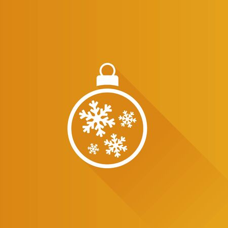 greeting season: Christmas ball icon in Metro user interface color style. Season greeting December