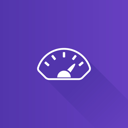 telephone: Dashboard icon in Metro user interface color style. Control panel odometer speedometer