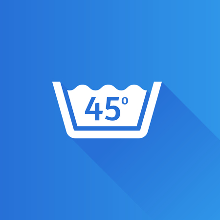 Washing temperature icon in Metro user interface color style. Laundry cleaning care