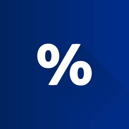 Percent symbol icon in Metro user interface color style. Math mathematics number
