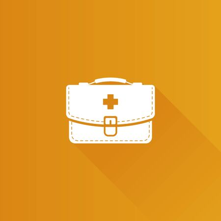 medical doctors: Medical case icon in Metro user interface color style. Health care equipment storage Illustration