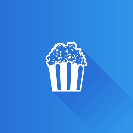 Popcorn icon in Metro user interface color style. Movie food snack