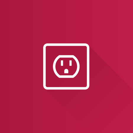 Electrical outlet icon in Metro user interface color style. Electronic connect plug Illustration