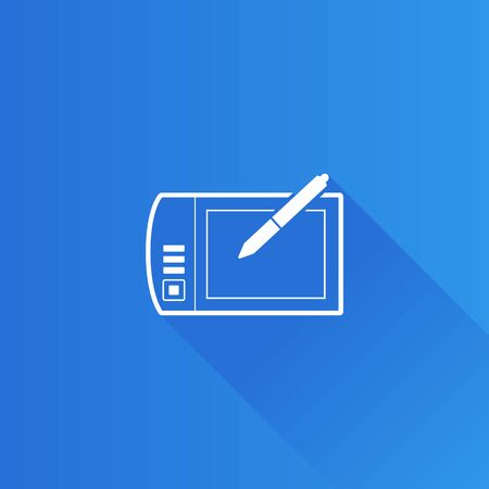 telephone: Drawing tablet icon in Metro user interface color style. Illustrator computer digital painting Illustration