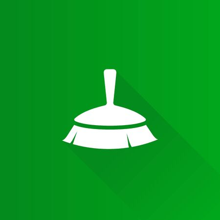 shadow: Brush icon in Metro user interface color style. Broom sanitary cleaning Illustration
