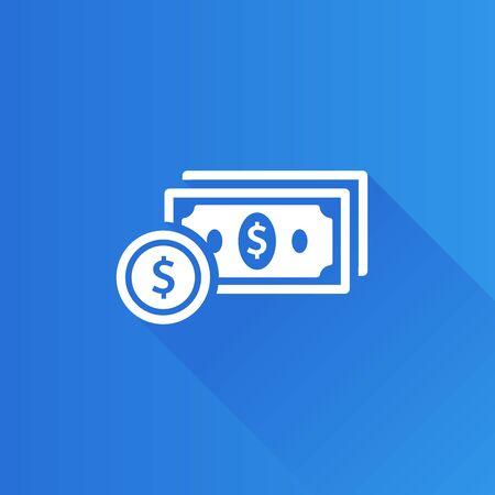 salarios: Icono de dinero en el estilo de color de interfaz de usuario de Metro. Finanzas Vectores