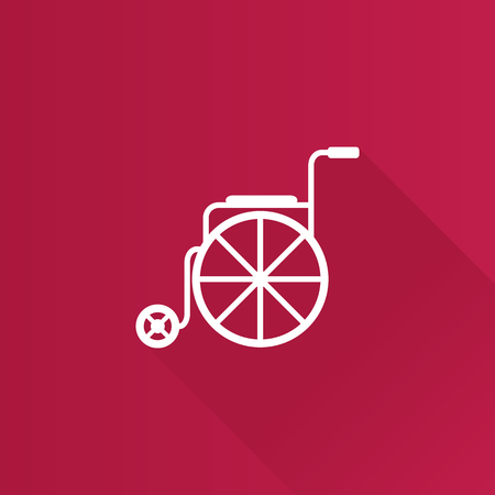 Wheelchair icon in Metro user interface color style. Nurse service senior