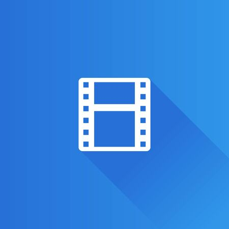 music: Video file format icon in Metro user interface color style. Computer data movie Illustration