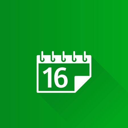 calendar icon: Calendar Christmas icon in Metro user interface color style. Reminder holiday celebration Illustration