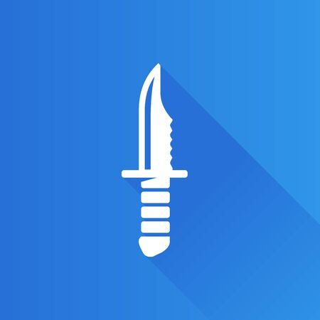 telephone: Knife icon in Metro user interface color style. Weapon assault danger dagger Illustration