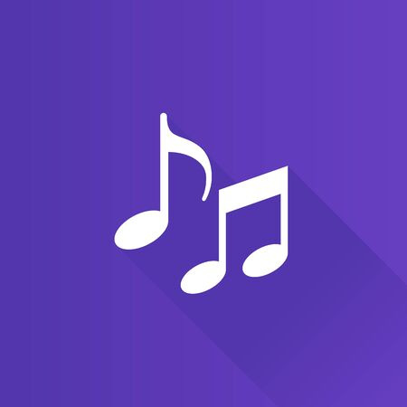 crotchets: Music notes icon in Metro user interface color style. Musical crotchets quaver Illustration