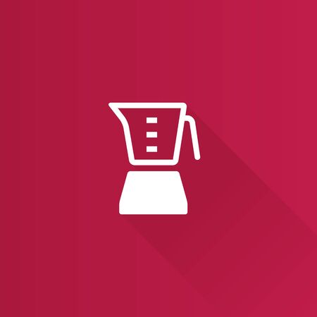 shadow: Juicer icon in Metro user interface color style. Household kitchen appliance