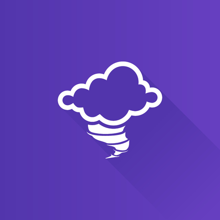 danger: Storm icon in Metro user interface color style. Disaster tornado nature