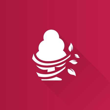 Tree icon in Metro user interface color style. Illustration