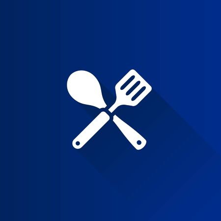 Spatula icon in Metro user interface color style. Cooking utensil kitchen household