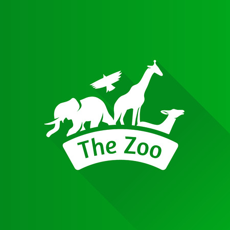 Zoo gate icon in Metro user interface color style. Animal park park
