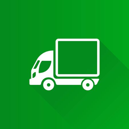 Truck icon in Metro user interface color style. Freight transport logistic