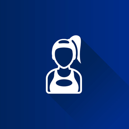 woman on phone: Girl avatar icon in Metro user interface color style.