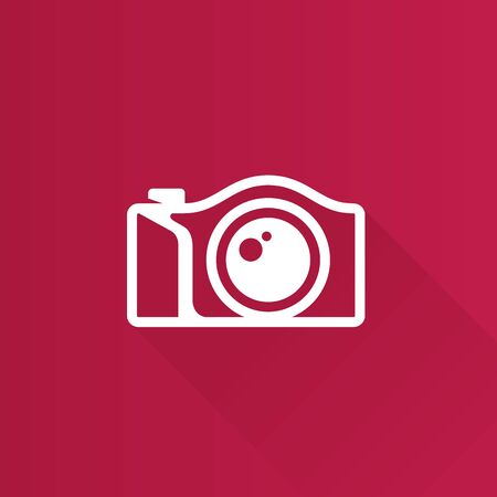 Camera icon in Metro user interface color style. Photography mirror less digital