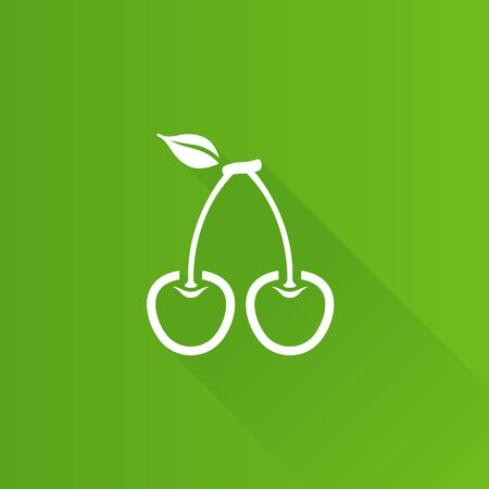 Cherry icon in Metro user interface color style. Food fruit healthy diet Illustration