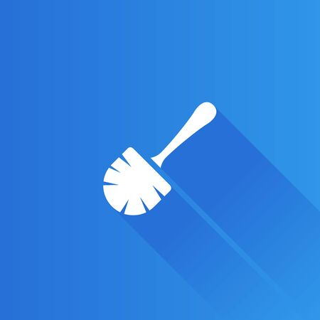 Brush icon in Metro user interface color style. Toilet sanitary cleaning Illustration