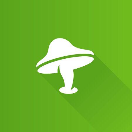 multiple: Mushroom icon in Metro user interface color style. Fungi autumn fall