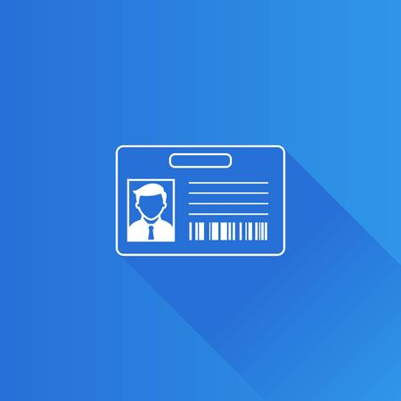 mobile: ID Card icon in Metro user interface color style. Identity office businessman Illustration