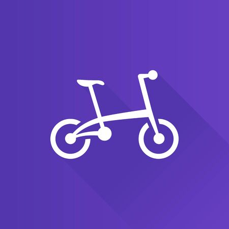 shadow: Bicycle icon in Metro user interface color style. Sport cycling folding Illustration