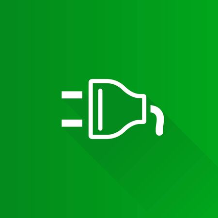 Electric plug icon in Metro user interface color style. Electricity connection household Illustration