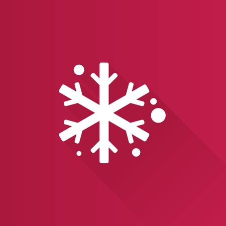 ice: Snowflakes icon in Metro user interface color style. Winter snow December