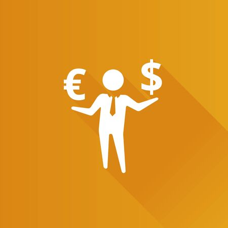 Businessman money icon in Metro user interface color style. Business wealth dollar sign