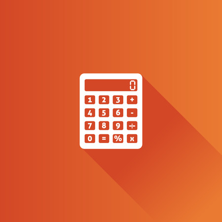 shadow: Calculator icon in Metro user interface color style. Calculate electronic finance