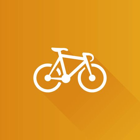 Track bike icon in Metro user interface color style. Bicycle racing road Illustration