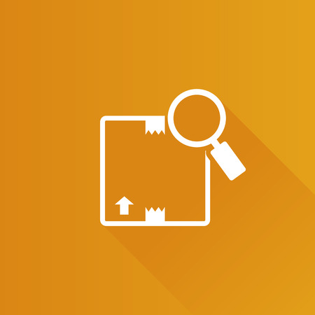 tracking: Parcel tracking icon in Metro user interface color style. Logistic package search locate