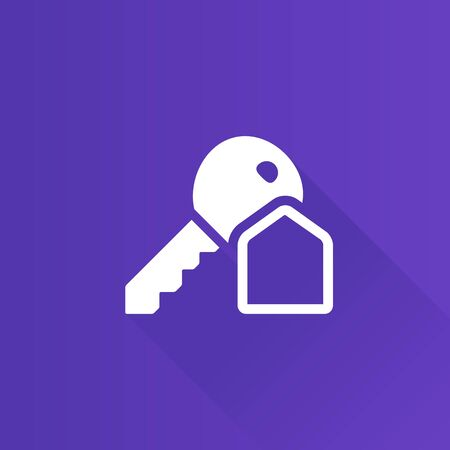 telephone: Key icon in Metro user interface color style. Safety protection house Illustration