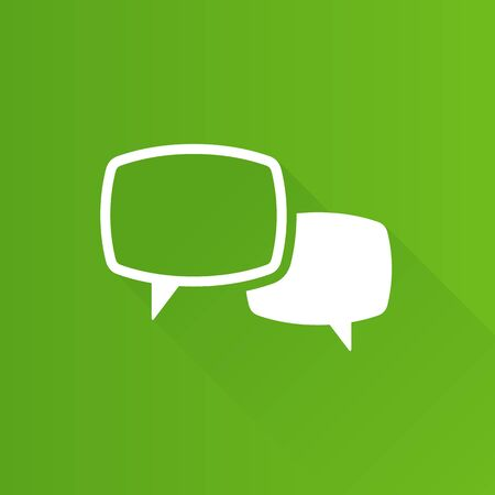 simple: Chat sign icon in Metro user interface color style. Communication conversation social media