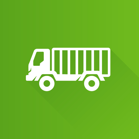 Military truck icon in Metro user interface color style. War transportation. Illustration