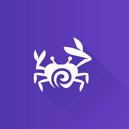 Crab icon in Metro user interface color style. Animal seafood