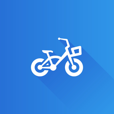vintage telephone: Kids bicycle icon in Metro user interface color style. Playing game toy Illustration