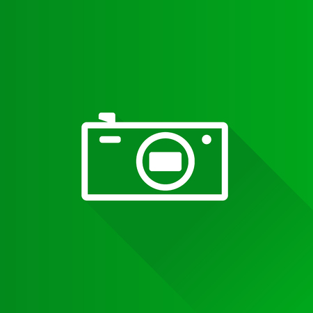 Camera icon in Metro user interface color style. Photography pocket compact