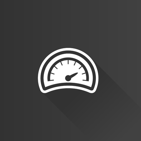 panels: Dashboard icon in Metro user interface color style. Control panel odometer speedometer