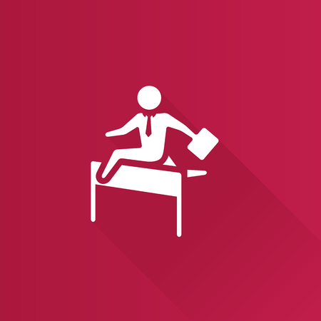 danger: Businessman challenge icon in Metro user interface color style.