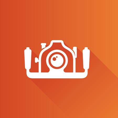 Underwater camera icon in Metro user interface color style. Photography sea water Ilustrace
