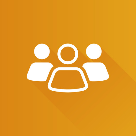 Teamwork icon in Metro user interface color style. Business collaboration team Illustration